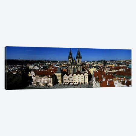 High angle view of a cityscape, Prague Old Town Square, Old Town, Prague, Czech Republic Canvas Print #PIM5498} by Panoramic Images Canvas Print
