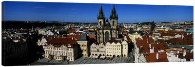 High angle view of a cityscape, Prague Old Town Square, Old Town, Prague, Czech Republic Canvas Art Print