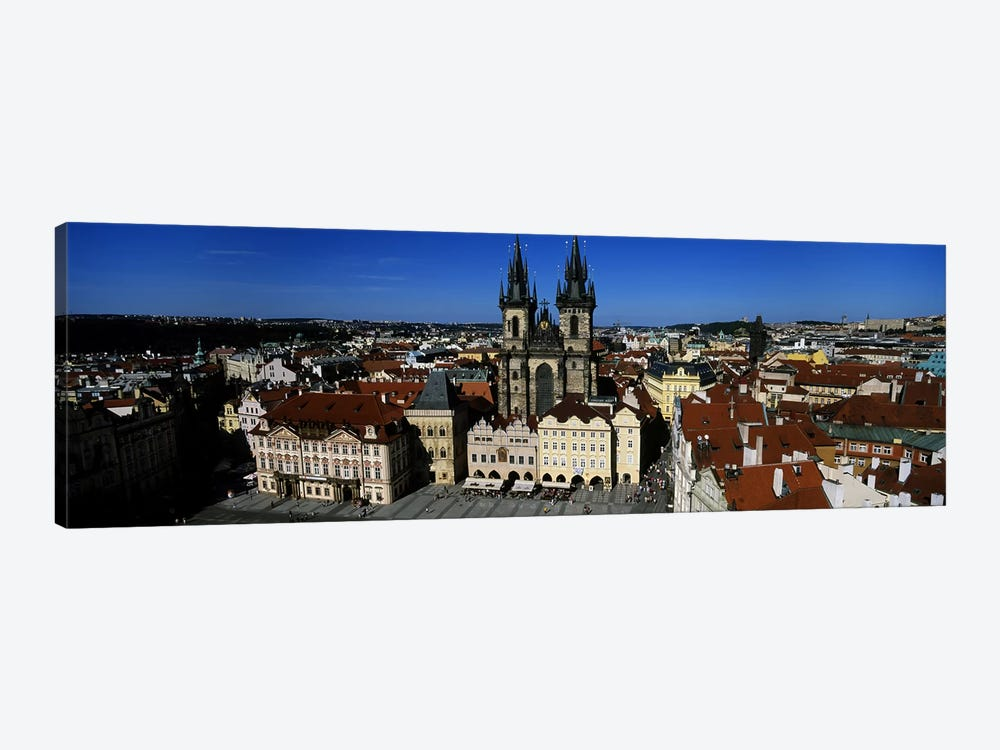 High angle view of a cityscape, Prague Old Town Square, Old Town, Prague, Czech Republic by Panoramic Images 1-piece Canvas Wall Art