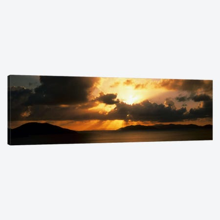Sunset British Virgin Islands Canvas Print #PIM549} by Panoramic Images Canvas Print