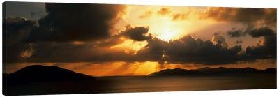 Sunset British Virgin Islands Canvas Print #PIM549