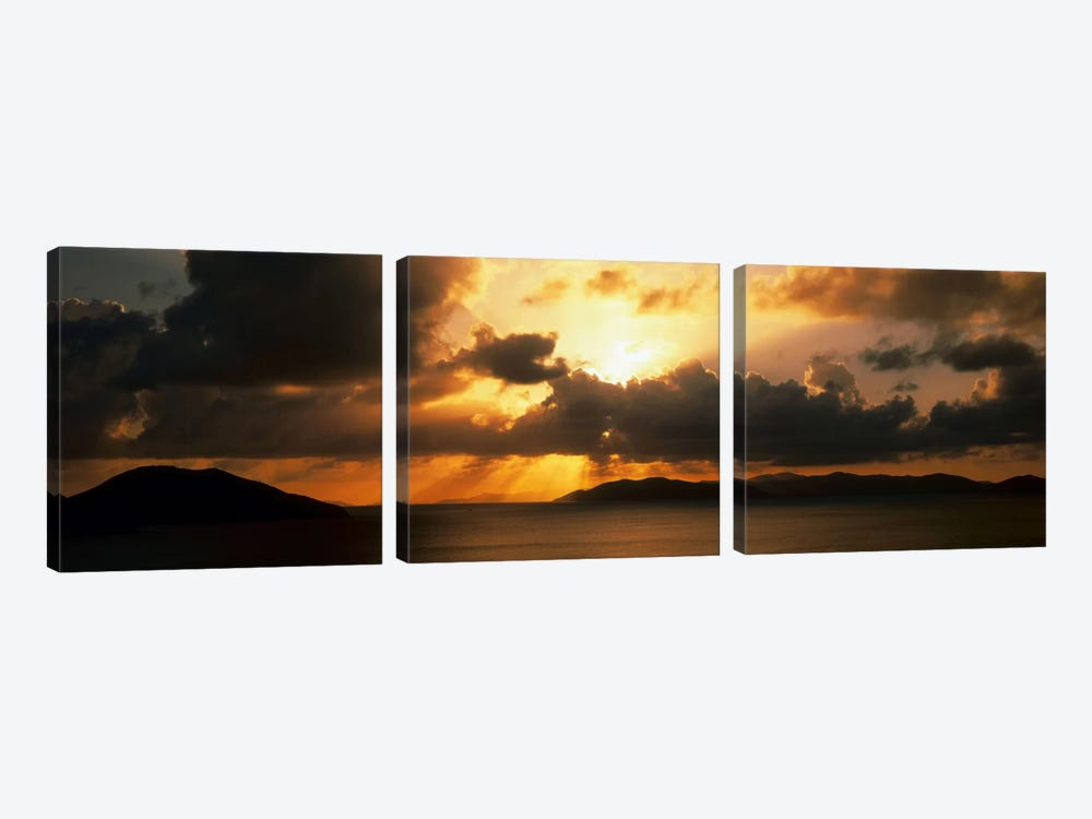 Sunset British Virgin Islands by Panoramic Images 3-piece Canvas Print