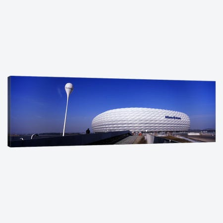 Soccer stadium in a city, Allianz Arena, Munich, Bavaria, Germany Canvas Print #PIM5503} by Panoramic Images Canvas Print