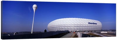 Soccer stadium in a city, Allianz Arena, Munich, Bavaria, Germany Canvas Art Print