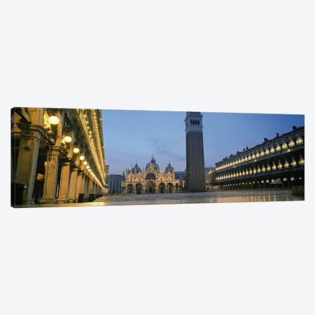 Cathedral lit up at dusk, St. Mark's Cathedral, St. Mark's Square, Venice, Veneto, Italy #2 Canvas Print #PIM5508} by Panoramic Images Canvas Print