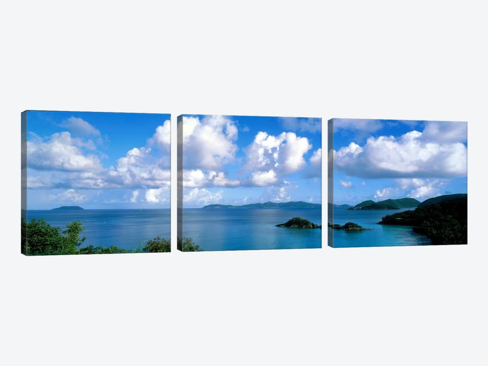 Trunk Bay St John US Virgin Islands 3-piece Canvas Print