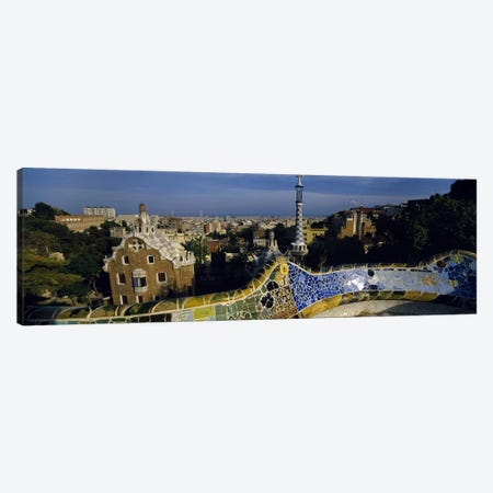 Parc Guell, Barcelona, Catalonia, Spain Canvas Print #PIM5512} by Panoramic Images Canvas Art