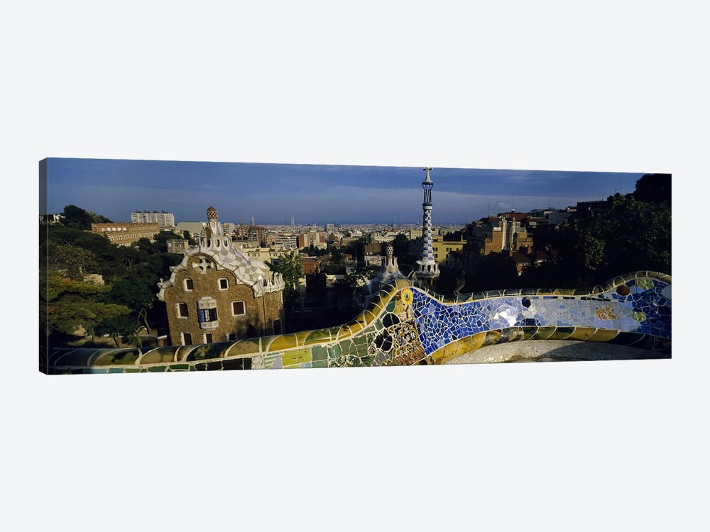 Parc Guell, Barcelona, Catalonia, Spain by Panoramic Images 1-piece Canvas Print