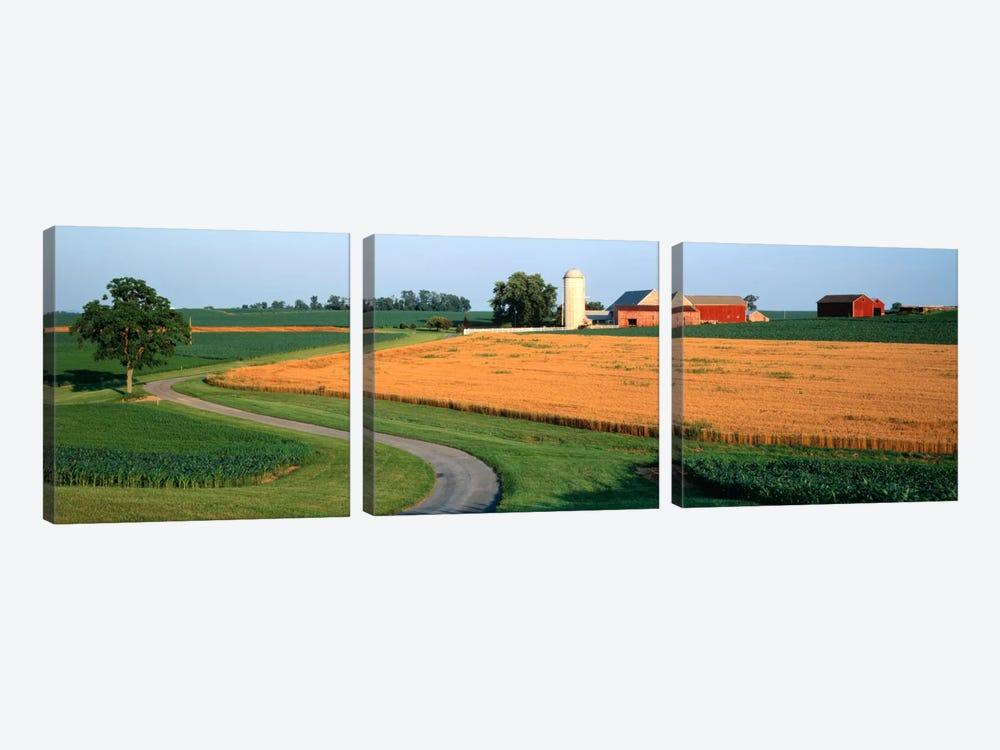 Farm nr Mountville Lancaster Co PA USA by Panoramic Images 3-piece Canvas Art