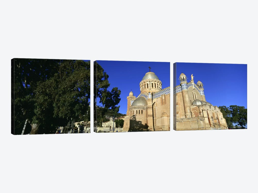 Low angle view of a church, Notre Dame D'Afrique, Algiers, Algeria by Panoramic Images 3-piece Canvas Art Print
