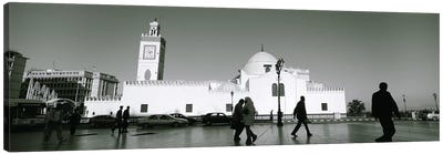 Cars parked in front of a mosque, Jamaa-El-Jedid, Algiers, Algeria Canvas Art Print