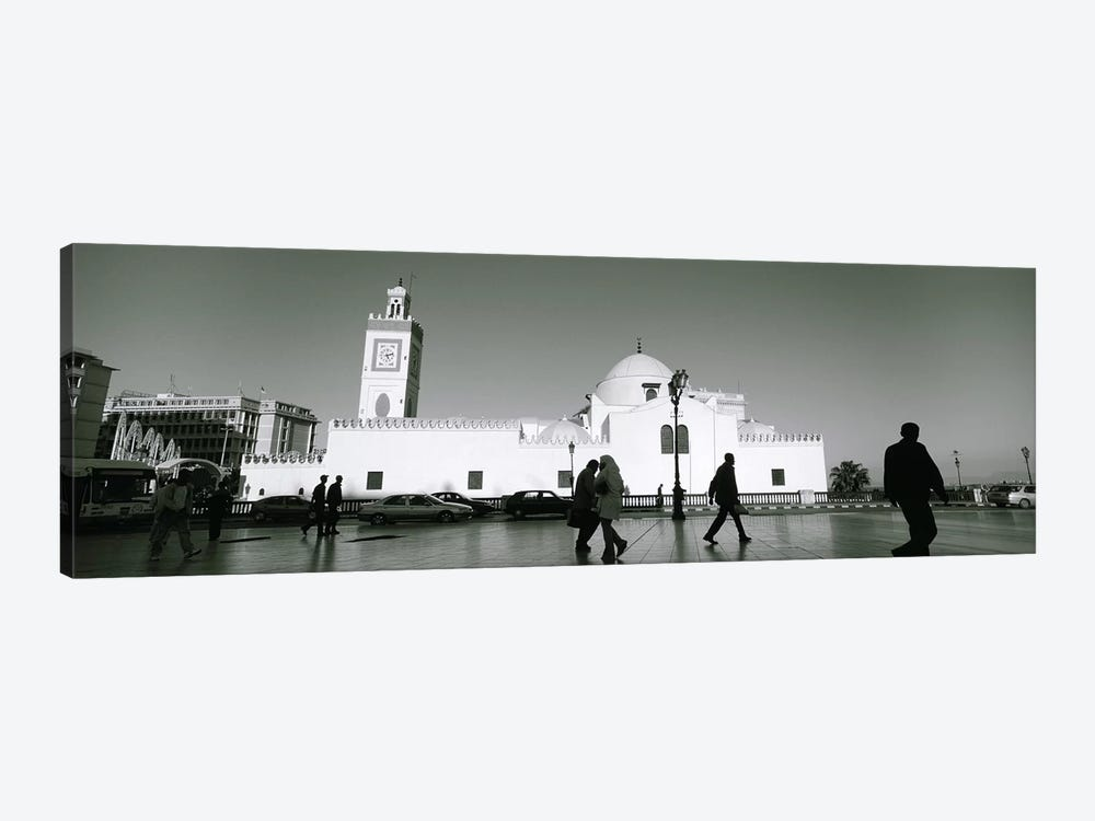 Cars parked in front of a mosque, Jamaa-El-Jedid, Algiers, Algeria by Panoramic Images 1-piece Canvas Artwork
