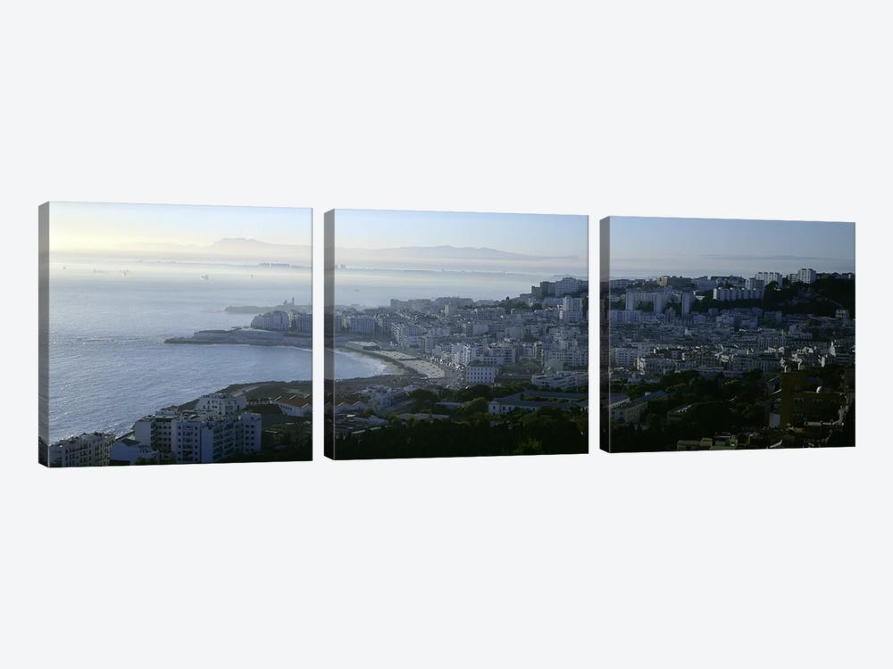 Aerial View, Bab El Oued, Algiers, Algeria by Panoramic Images 3-piece Canvas Print