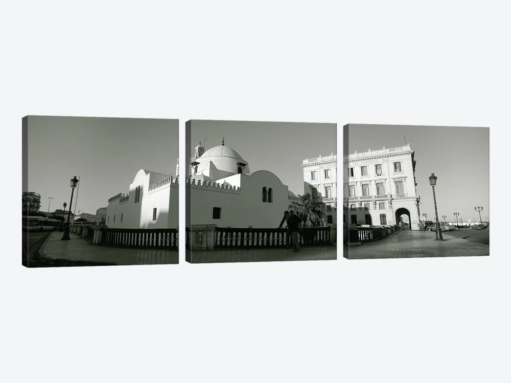 Low angle view of a mosque, Jamaa-El-Jedid, Algiers, Algeria by Panoramic Images 3-piece Canvas Art Print