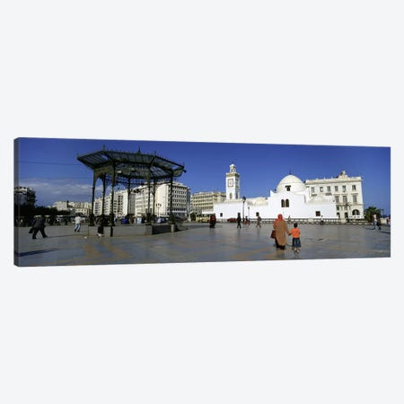 Tourists walking in front of a mosque, Jamaa-El-Jedid, Algiers, Algeria Canvas Print #PIM5535} by Panoramic Images Canvas Art Print
