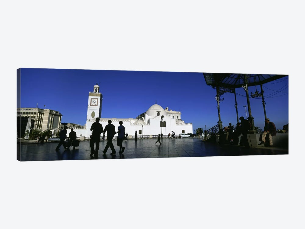 Tourists walking in front of a mosque, Jamaa-El-Jedid, Algiers, Algeria #2 by Panoramic Images 1-piece Canvas Art