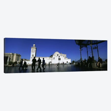 Tourists walking in front of a mosque, Jamaa-El-Jedid, Algiers, Algeria #2 Canvas Print #PIM5537} by Panoramic Images Canvas Art Print