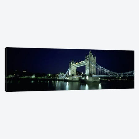 Bridge across a river, Tower Bridge, Thames River, London, England Canvas Print #PIM5554} by Panoramic Images Canvas Print