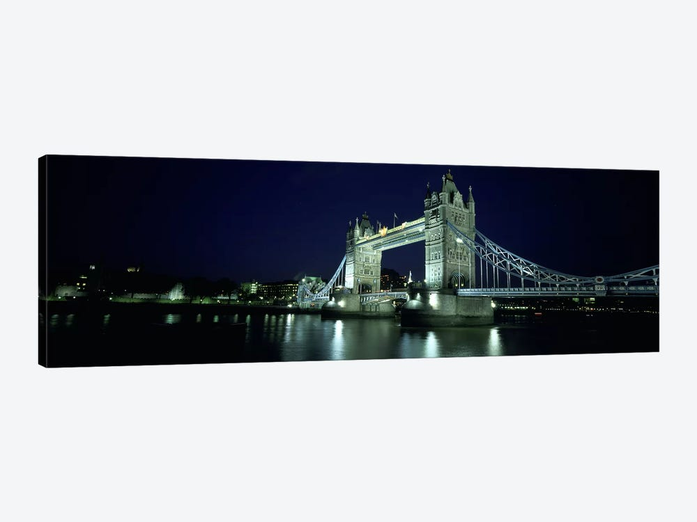 Bridge across a river, Tower Bridge, Thames River, London, England by Panoramic Images 1-piece Art Print