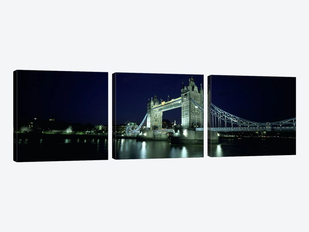 Bridge across a river, Tower Bridge, Thames River, London, England 3-piece Art Print
