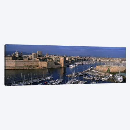 Old Port, Marseille, Provence-Alpes-Cote d'Azur, France Canvas Print #PIM5558} by Panoramic Images Canvas Wall Art