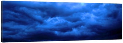 Dramatic Blue Clouds Canvas Art Print