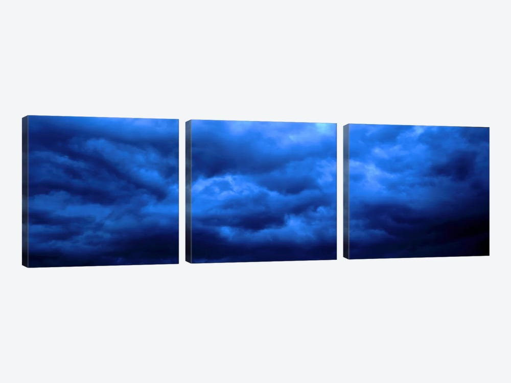 Dramatic Blue Clouds by Panoramic Images 3-piece Canvas Wall Art