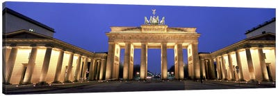 An Illuminated Brandenburg Gate, Berlin, Germany Canvas Art Print