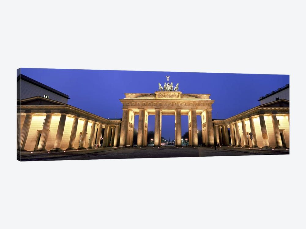 An Illuminated Brandenburg Gate, Berlin, Germany by Panoramic Images 1-piece Canvas Art