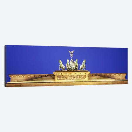 High section view of a gate, Brandenburg Gate, Berlin, Germany Canvas Print #PIM5563} by Panoramic Images Art Print
