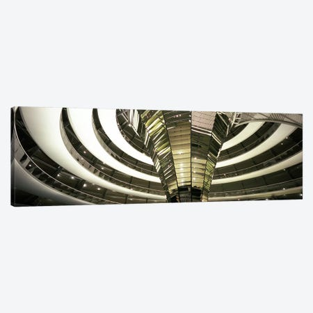 Interior Of Dome & Cone, Reichstag, Berlin, Germany Canvas Print #PIM5564} by Panoramic Images Canvas Art