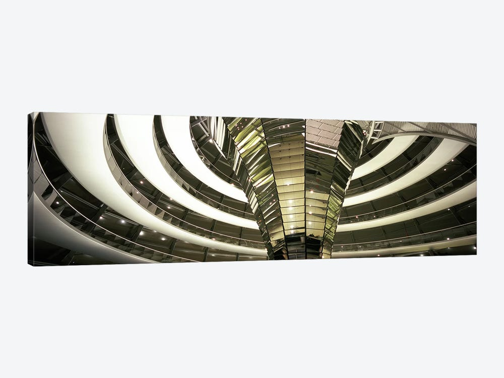 Interior Of Dome & Cone, Reichstag, Berlin, Germany by Panoramic Images 1-piece Canvas Art