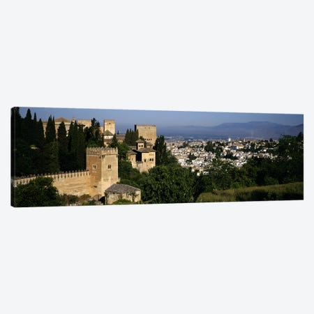 High-Angle View Of El Albayzin (Albaicin), Granada, Andalusia, Spain Canvas Print #PIM5572} by Panoramic Images Canvas Art