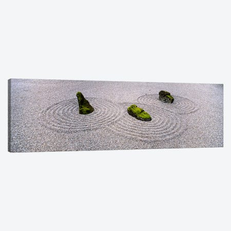 High angle view of moss on three stones in a Zen garden, Washington Park, Portland, Oregon, USA Canvas Print #PIM5577} by Panoramic Images Canvas Art Print