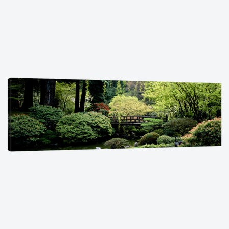 Panoramic view of a garden, Japanese Garden, Washington Park, Portland, Oregon Canvas Print #PIM5579} by Panoramic Images Canvas Art
