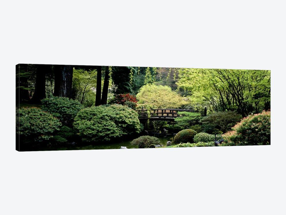 Panoramic view of a garden, Japanese Garden, Washington Park, Portland, Oregon by Panoramic Images 1-piece Canvas Art