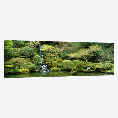 Waterfall in a garden, Japanese Garden, Washington Park, Portland, Oregon, USA Canvas Print #PIM5580} by Panoramic Images Art Print