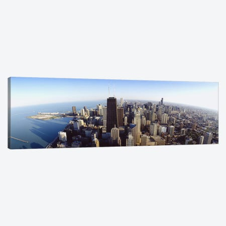 Aerial view of a city, Chicago, Illinois, USA #2 Canvas Print #PIM5584} by Panoramic Images Canvas Artwork
