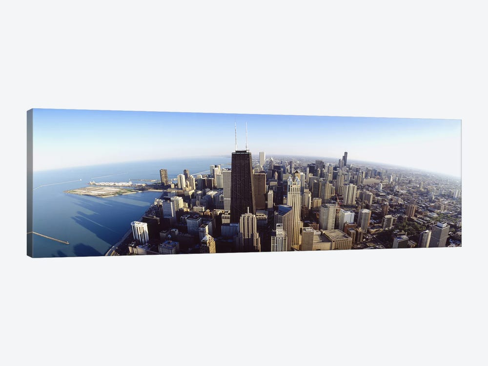 Aerial view of a city, Chicago, Illinois, USA #2 by Panoramic Images 1-piece Canvas Art
