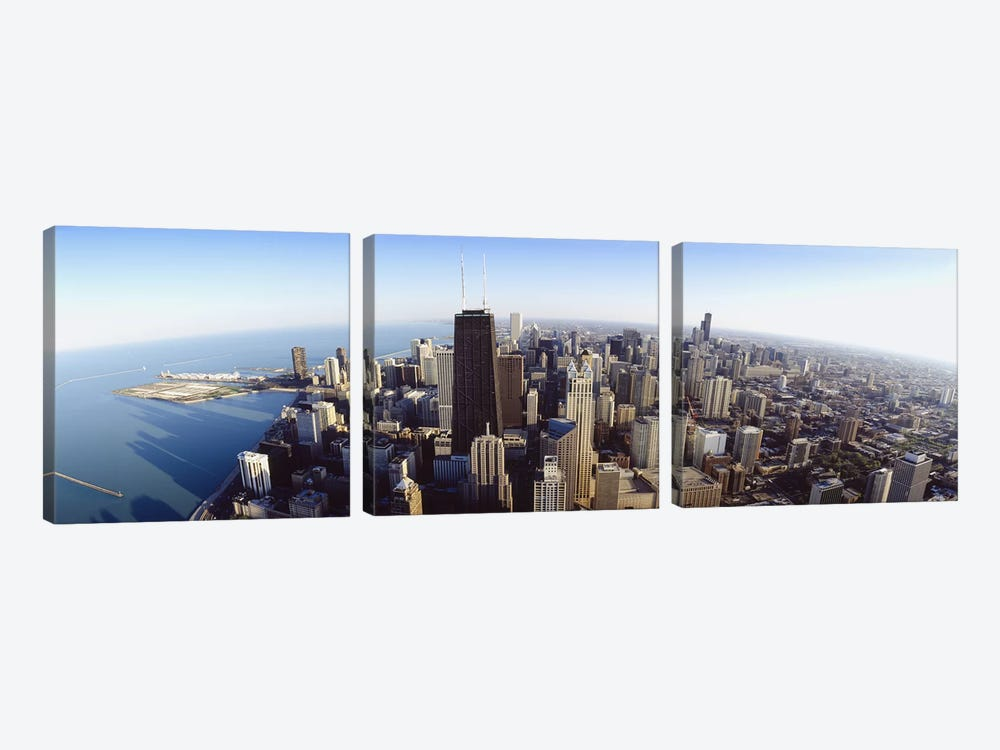 Aerial view of a city, Chicago, Illinois, USA #2 by Panoramic Images 3-piece Canvas Artwork