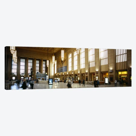 Group of people at a station, Philadelphia, Pennsylvania, USA Canvas Print #PIM5585} by Panoramic Images Canvas Artwork