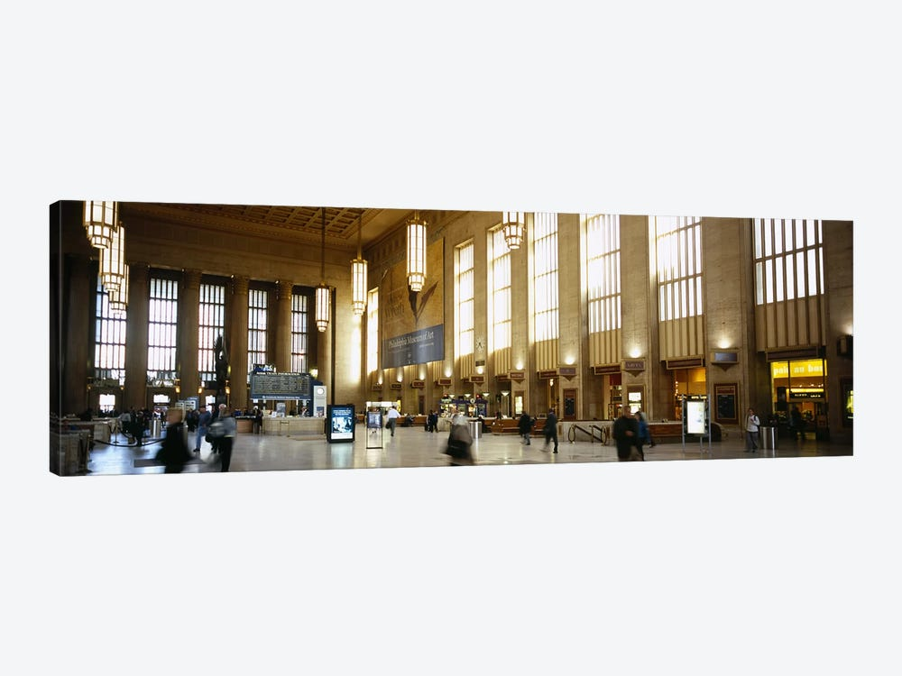 Group of people at a station, Philadelphia, Pennsylvania, USA 1-piece Canvas Art Print