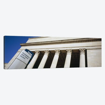 Low angle view of a building, 30th Street Station, Philadelphia, Pennsylvania, USA Canvas Print #PIM5588} by Panoramic Images Art Print