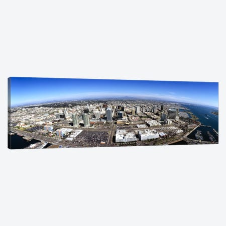 Aerial view of a city, San Diego, California, USA Canvas Print #PIM5591} by Panoramic Images Canvas Wall Art