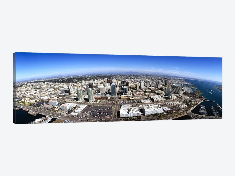 Aerial view of a city, San Diego, California, USA by Panoramic Images 1-piece Canvas Art