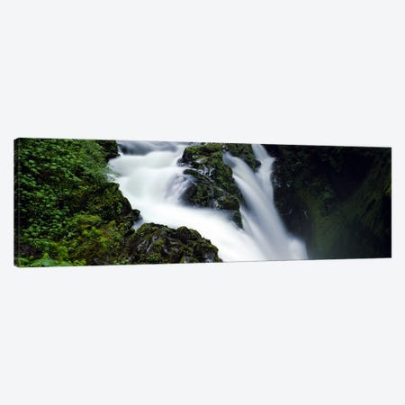 High angle view of a waterfall, Sol Duc Falls, Olympic National Park, Washington State, USA Canvas Print #PIM5592} by Panoramic Images Canvas Art