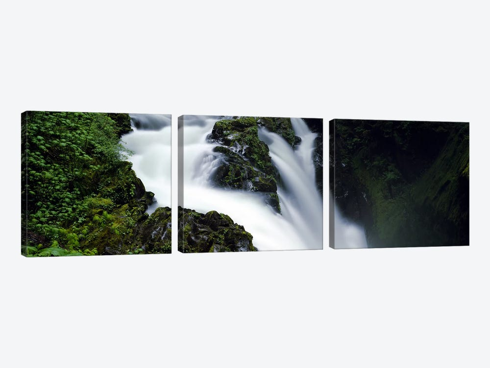 High angle view of a waterfall, Sol Duc Falls, Olympic National Park, Washington State, USA by Panoramic Images 3-piece Canvas Print