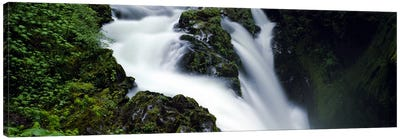 High angle view of a waterfall, Sol Duc Falls, Olympic National Park, Washington State, USA Canvas Art Print