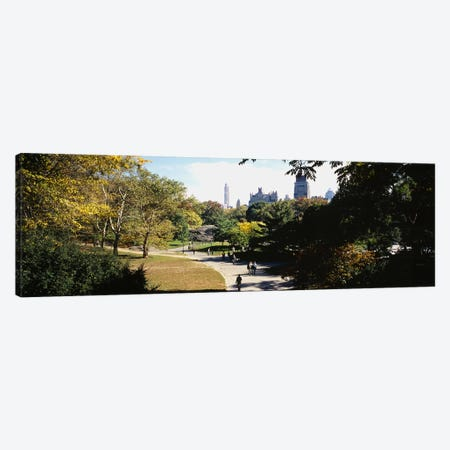 High angle view of a group of people walking in a park, Central Park, Manhattan, New York City, New York State, USA Canvas Print #PIM5593} by Panoramic Images Canvas Art