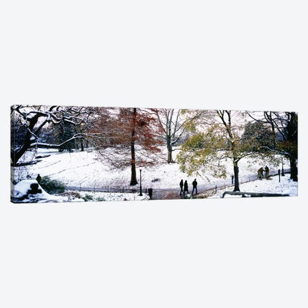 High angle view of a group of people in a park, Central Park, Manhattan, New York City, New York, USA Canvas Print #PIM5598} by Panoramic Images Canvas Wall Art